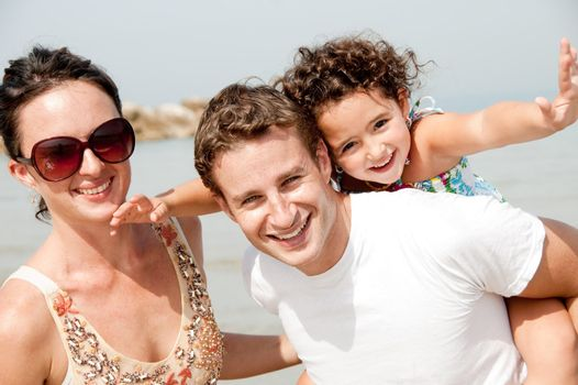 Family Having Fun, on the beach