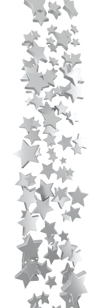 Flow of small stars  isolated on the white background