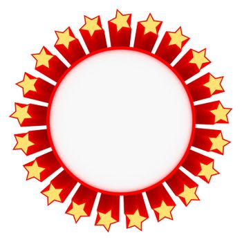 Star frame isolated on the white background