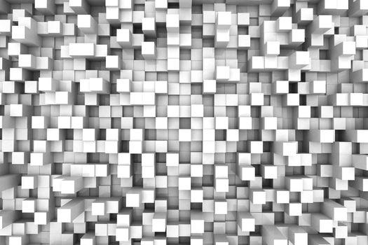 Three-dimensional design from white blocks