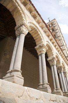 arch of ancient church in segovia