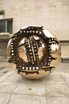 broken sphere sculpture