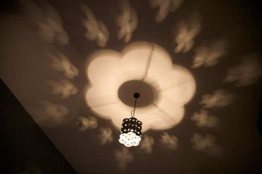 lamp at the ceiling