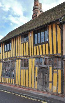 yellow tudor cottage