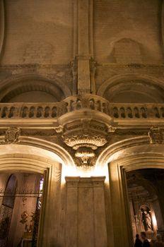 ancient balcony indoor