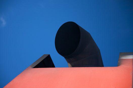 black chimney boat