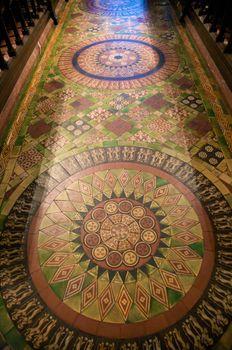 circle tile floor