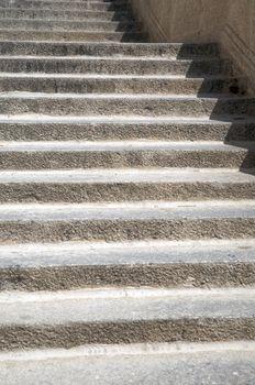 rungs of stone stairs