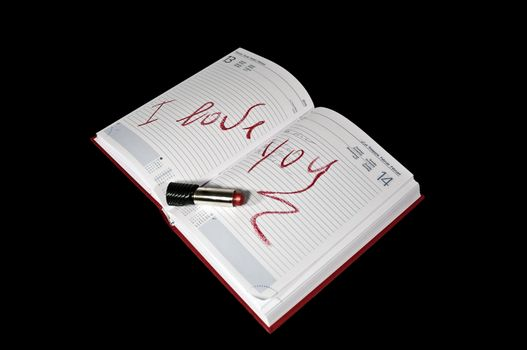 I love you with a written agenda
