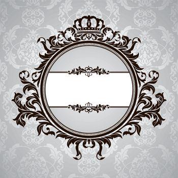 royal vintage floral frame
