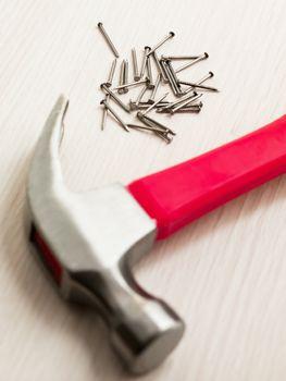 nails and hammer