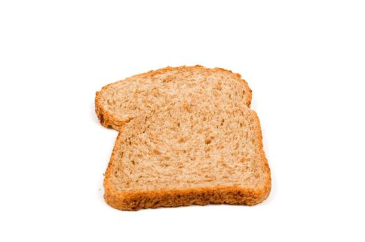 The perfect slice of bread isolated on a white background
