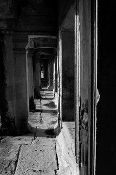 Shot at a temple in Angkor, Cambodia