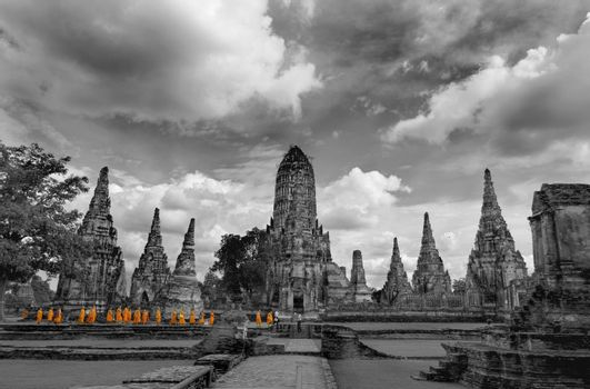 Shot at a temple area in Ayutthaya, Thailand