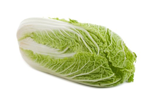 close-up ripe chinese cabbage, isolated on white