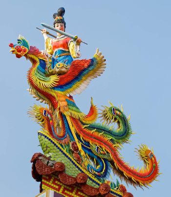 Chinese god carving
