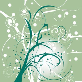 Abstract nature background, vector art