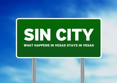 Sin City Highway Sign