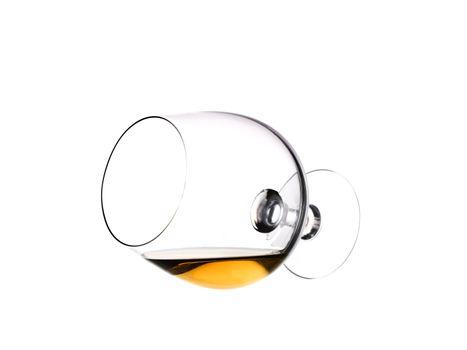 Lieing glass of brandy