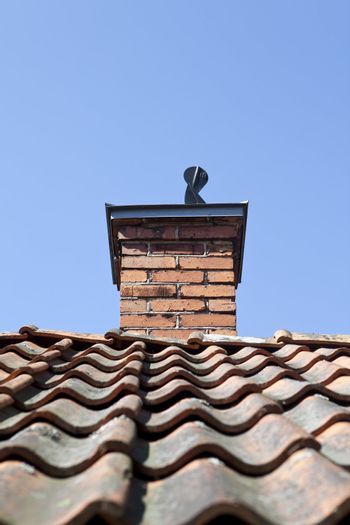 Chimney on a old hous