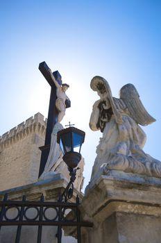 angel praying christ