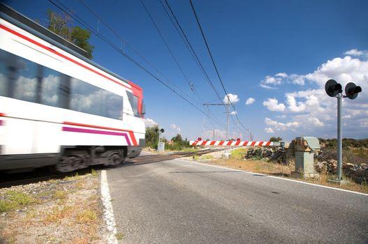 level crossing train