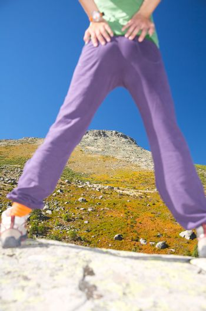 peak between legs