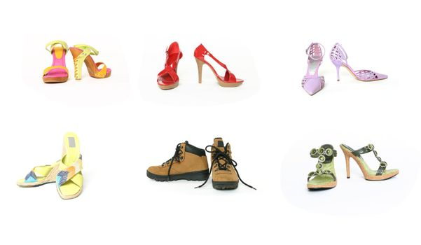 Six pairs shoes