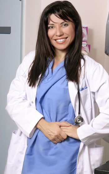 Female doctor or nurse in the clinic or ward.