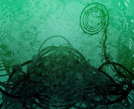 Swirly abstract grunge textured background wallpaper illustration