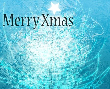 Merry christmas happy holidays greeting card design