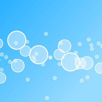 abstract blue water bubble illustration for background