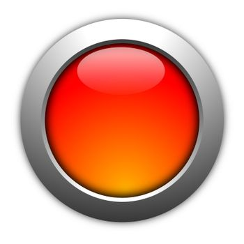 blank illustration of a button with copyspace