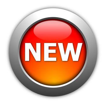 new internet button illustration on white background