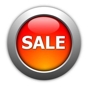 sale button illustration for internet shop or marketing