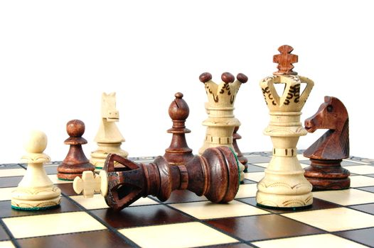chess pieces showing concept for competition in business