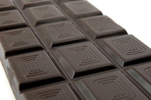sweet chocolate for baking isolated on white background