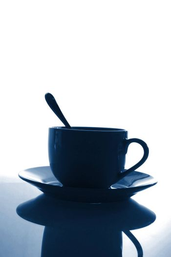 cup of coffee with copyspace for text message