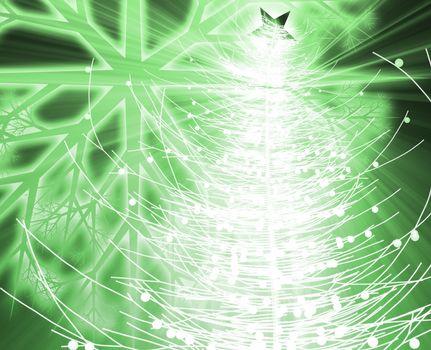 Festive christmas tree seasonl holiday abstract illustration