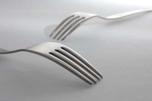 abstract fork macro in the kitchen as a food concept