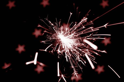 christmas sparkler with copyspace for text message