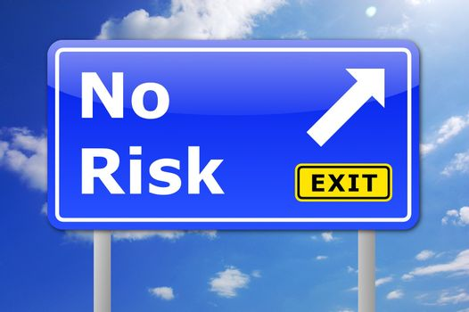 no risk concept for your financial investment