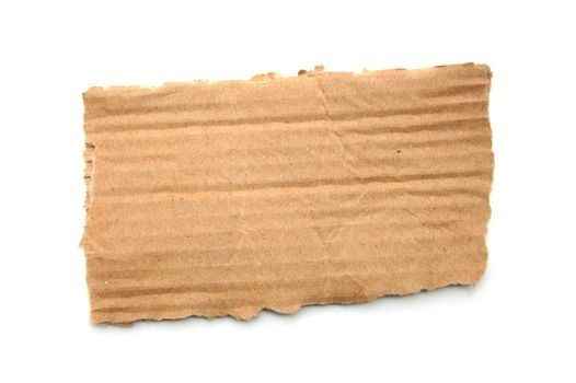 empty cardboard for a text message isolated on white background