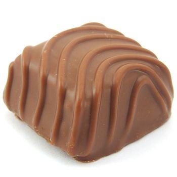 sweet chocolate praline isolated on white background