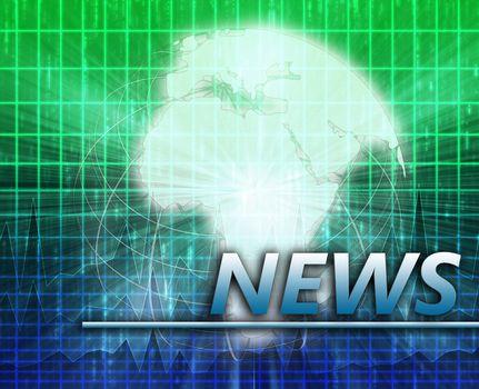 Africa Latest update news newsflash splash screen announcement illustration