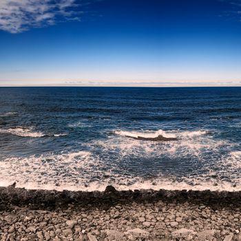 Coastline and the sea