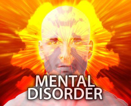 Male psychiatric treatment mental disorder rorschach inkblot concept