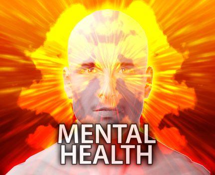 Male psychiatric treatment mental health rorschach inkblot concept