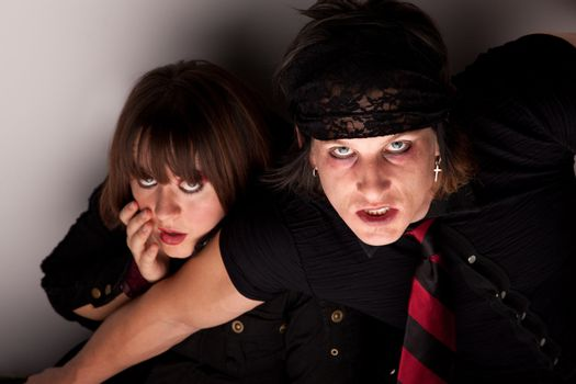 Frightened Couple