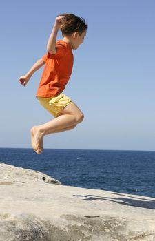 Jump Jumping fun enjoyment